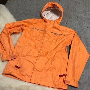 Patagonia orange h2no raincoat/windbreaker girls M